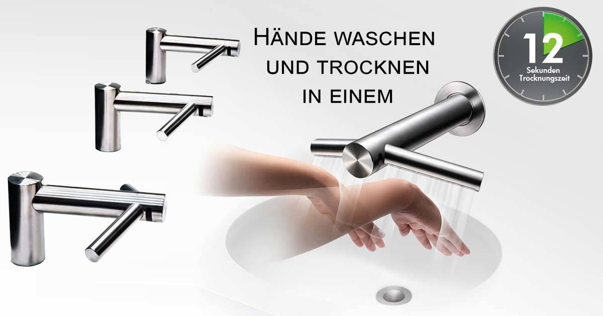 Dyson Tap Hände waschen und trocknen