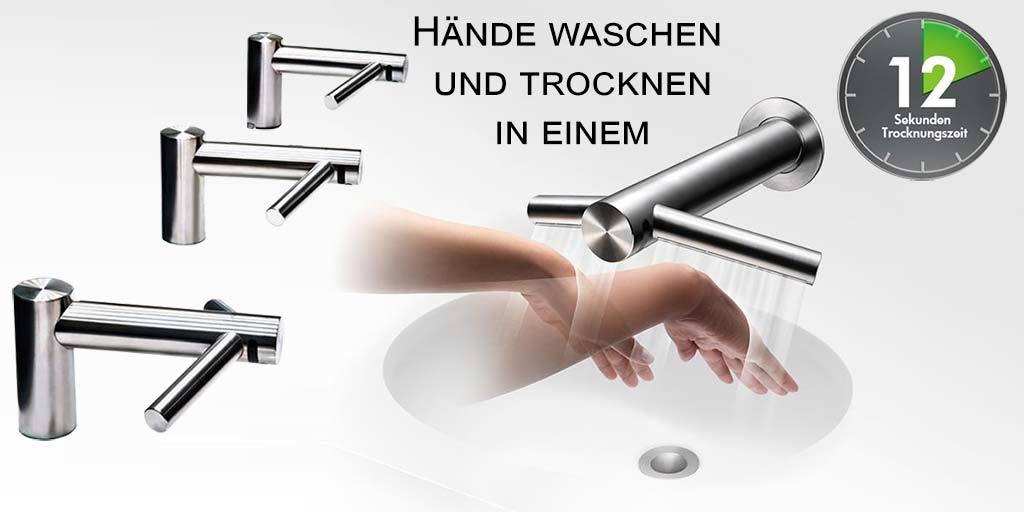 Dyson Tap Händetrockner mit Sensor Wasserhahn