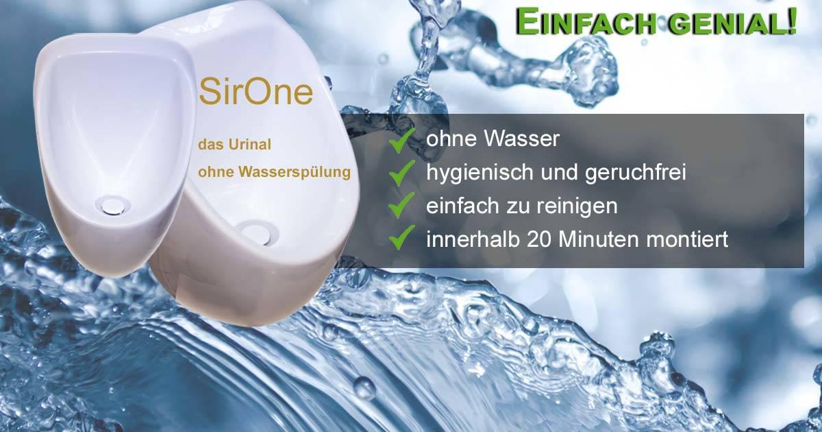 wasserlose Urinale SirOne senken Wasserkosten