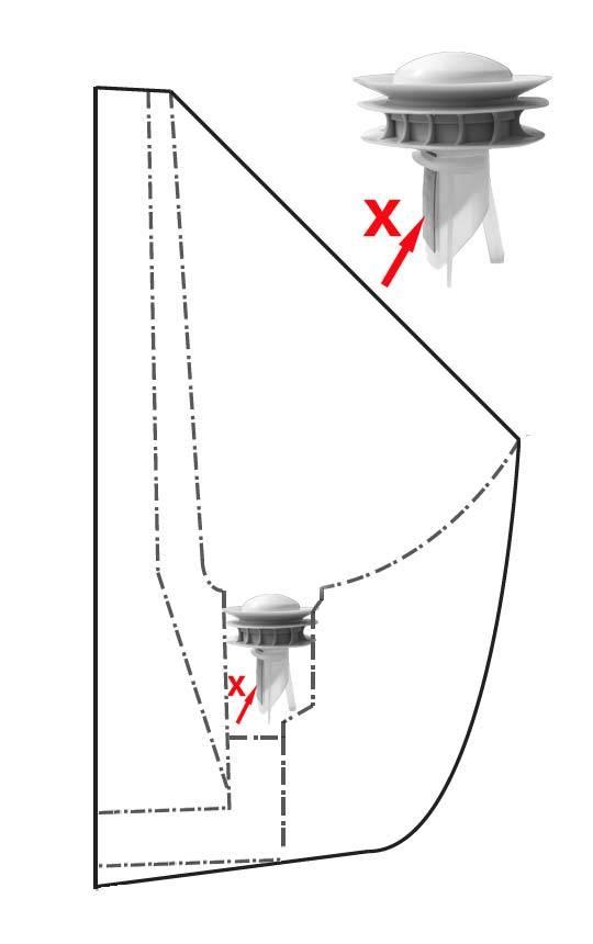 Modellansicht Wasserlose Urinale mit Verschluss geschlossen